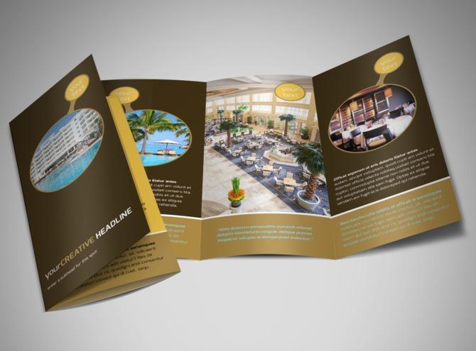 Mẫu brochure đẹp cho lĩnh vực nhà hàng, khách sạn, du lịch