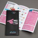 Brochure menu - menu cầm tay dành cho quán kem trà sữa
