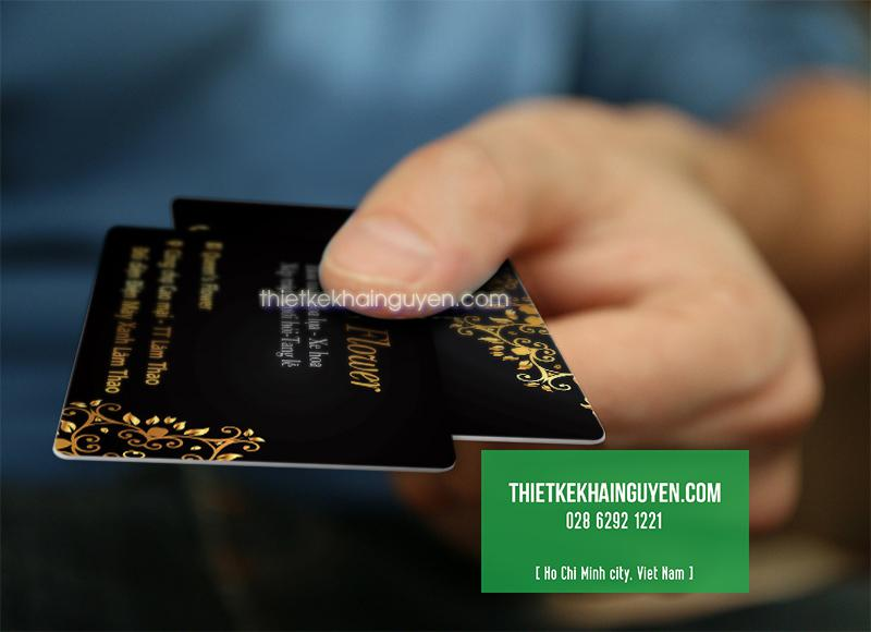 In card visit nhựa bằng thẻ nhựa