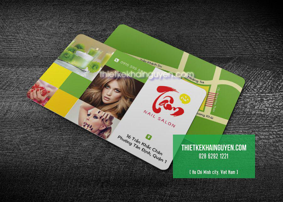 In name card spa bằng nhựa