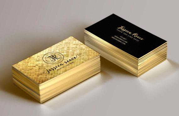 In card visit phủ viền nhũ vàng cao cấp