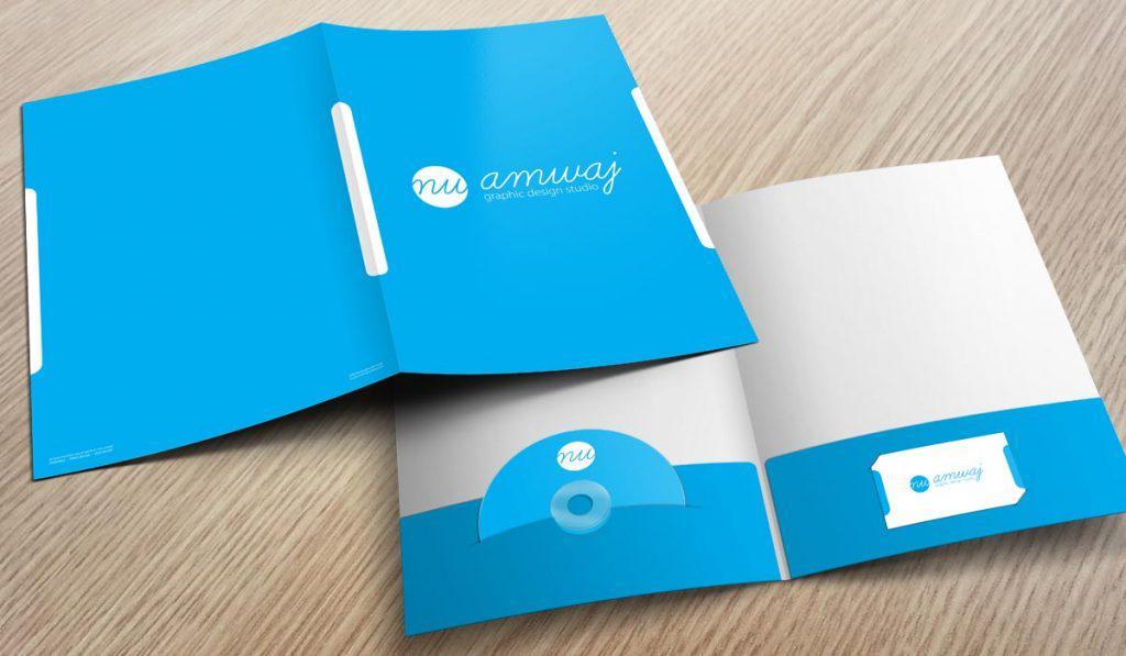 Folder 2 tay gấp đựng CD và card visit
