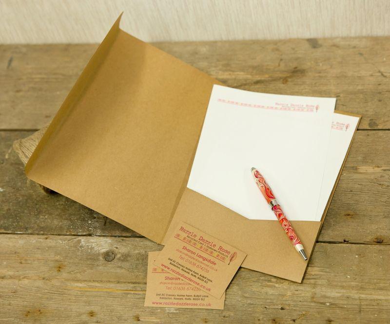In folder giấy kraft tái chế đặc biệt