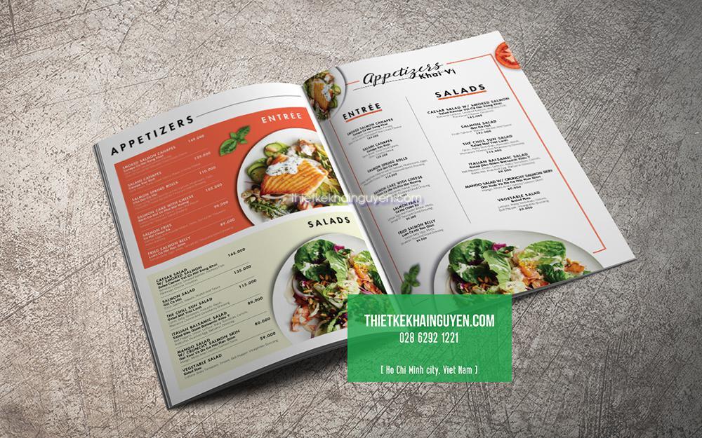 Mẫu thiết kế thực đơn nhà hàng Tây