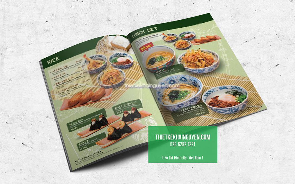 Thiết kế menu Nhật họ thường chú trọng đầu tư vào hình ảnh