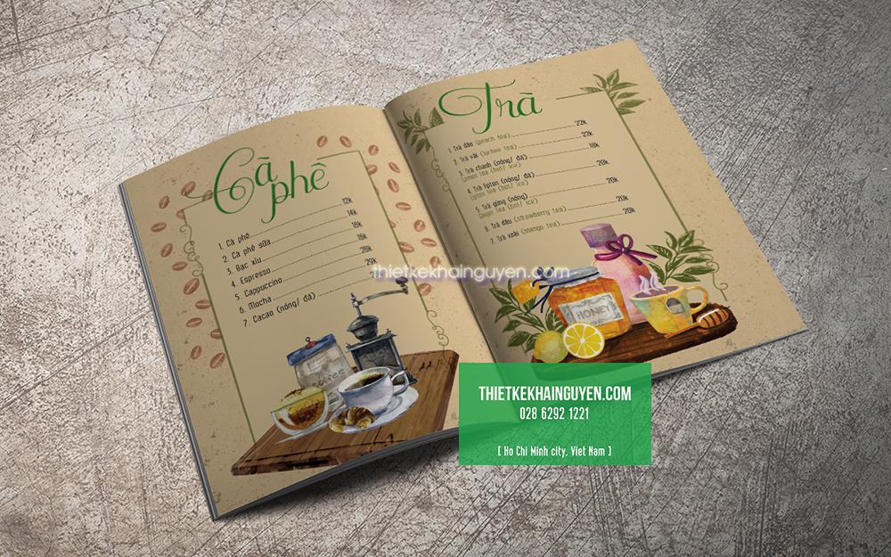 Mẫu thiết kế menu vintage - phong cách cổ điển