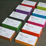 In name card phủ viền với đầy đủ các màu đặc biệt