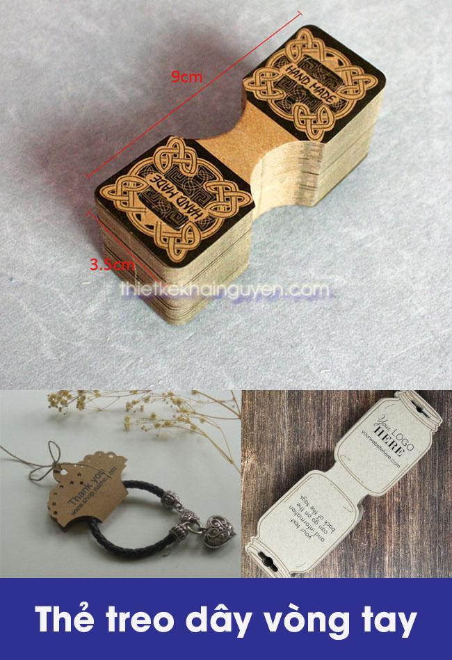 Kiểu dáng tag treo vòng tay - mẫu thẻ treo trang sức đẹp