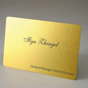 In thẻ nhựa ánh vàng - card nhựa nhũ vàng