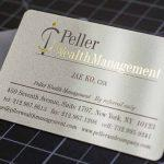 Chất liệu in card visit nhựa PVC nhũ bạc ánh kim