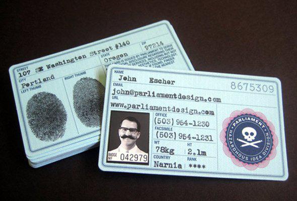 Làm name card với thiết kế như CMND