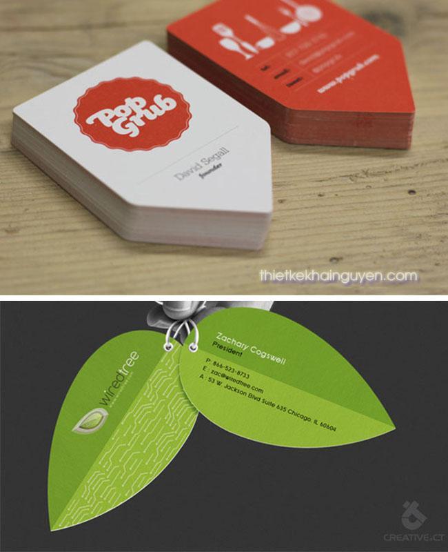 Ý tưởng thiết kế card visit với hình dạng khác