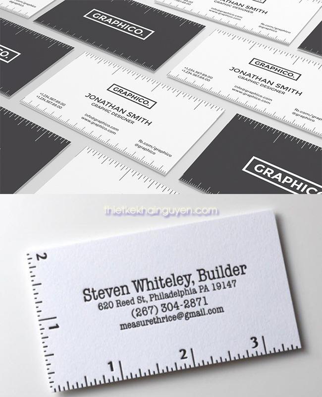 Ý tưởng thiết kế name card độc lạ với thước kẻ