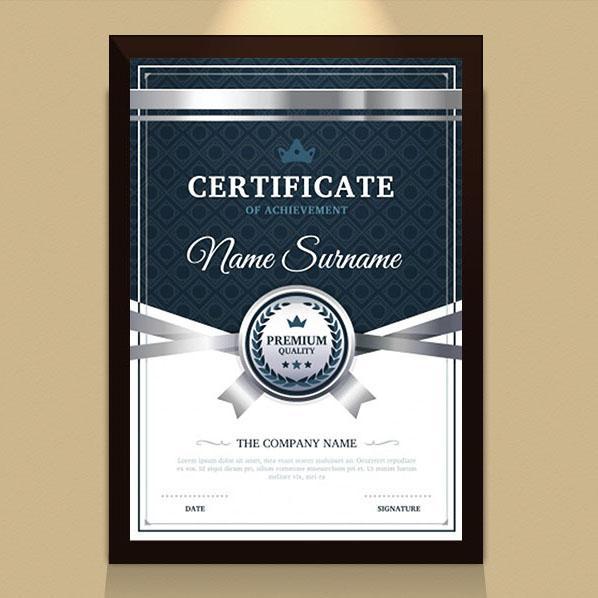 Mẫu certificate thiết kế theo phong cách huyền bí mạnh mẽ