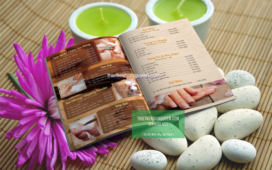 Chọn mẫu menu cho Spa đẹp sẽ tạo ấn tượng tốt hơn với khách hàng