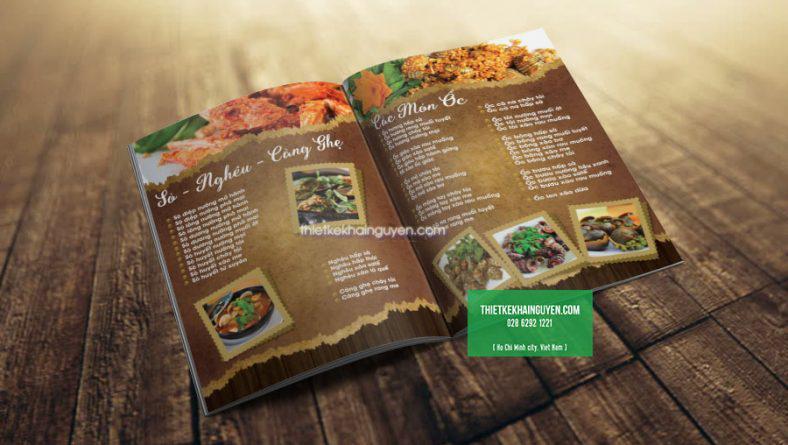 Thiết kế menu quán ỐC ấn tượng