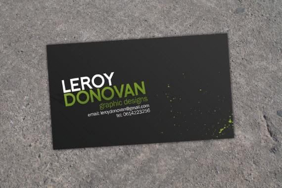 Design card visit với phong cách nghiêng