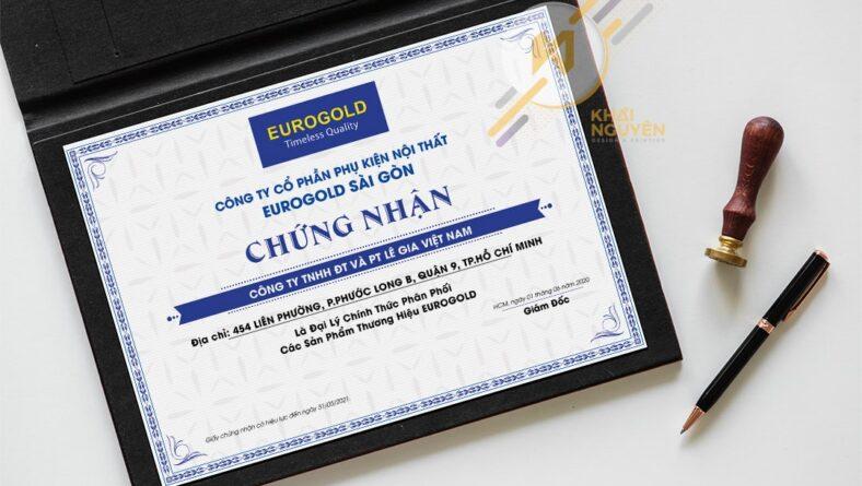 Thiết kế bằng khen, certificate, giấy khen