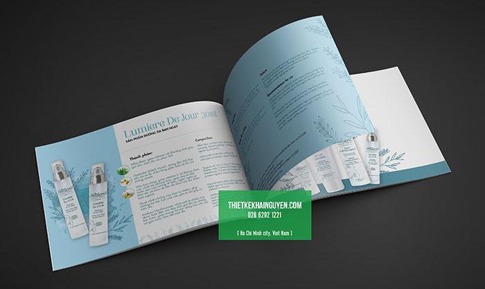 Ví dụ về catalogue khổ A4 ngang