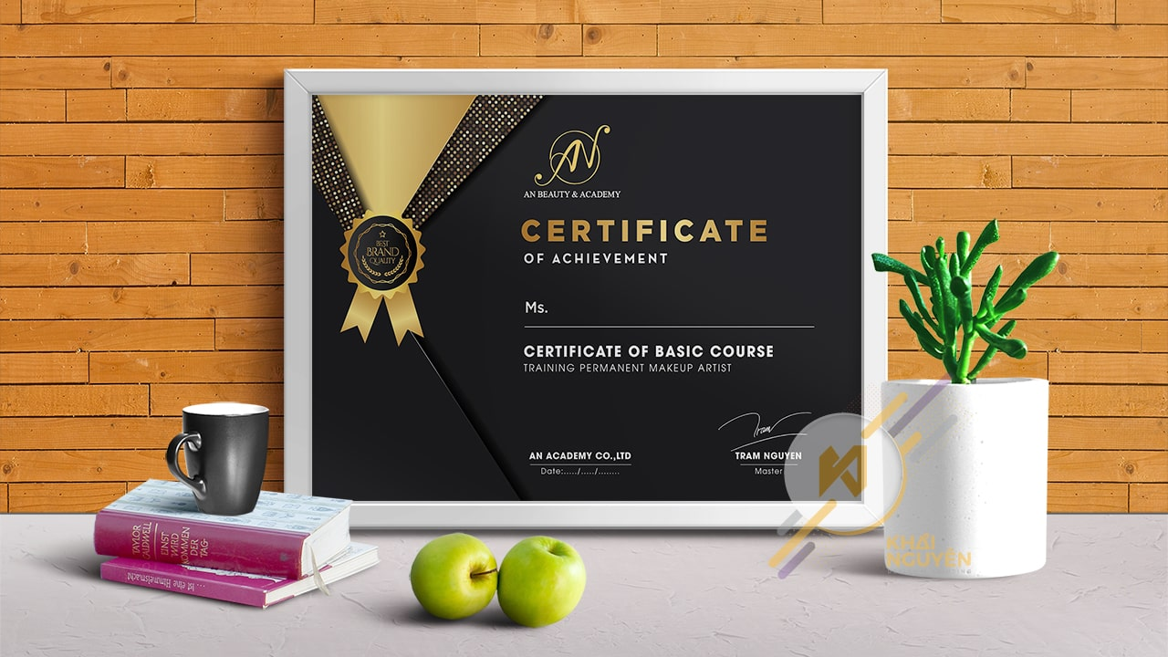 Certificate of achievement - Certificate of Basic Course