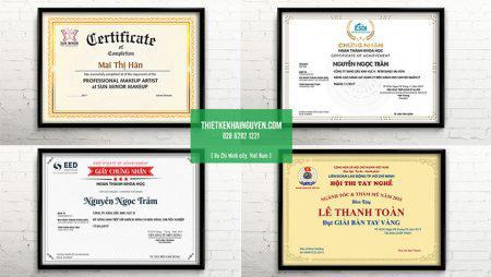 9 mẫu giấy khen, giấy chứng nhận bằng tiếng Việt siêu đẹp