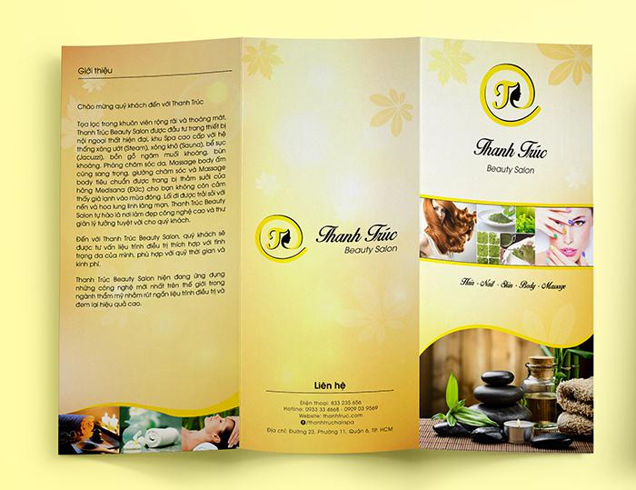 Catalogue dạng brochure gấp 3