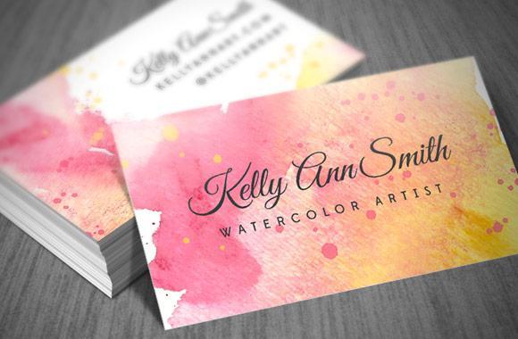Thiết kế card visit màu nước