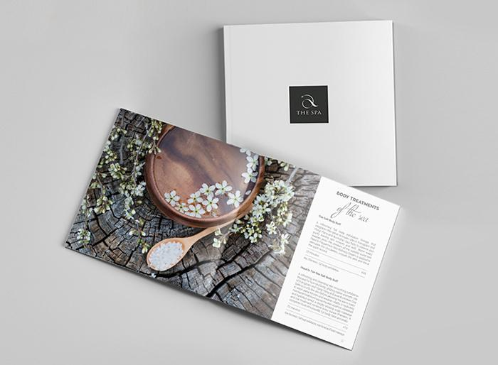 In catalogue spa hình vuông