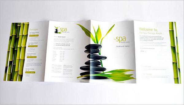 Thiết kế catalogue spa gấp 4 lồng nhau