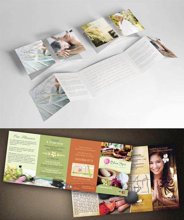 2 mẫu brochure thiết kế kiểu gấp của sổ độc đáo