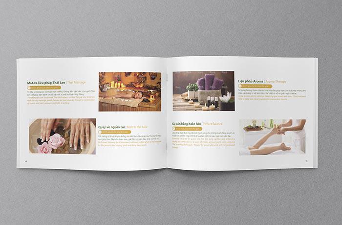 Thiết kế catalogue spa khổ ngang