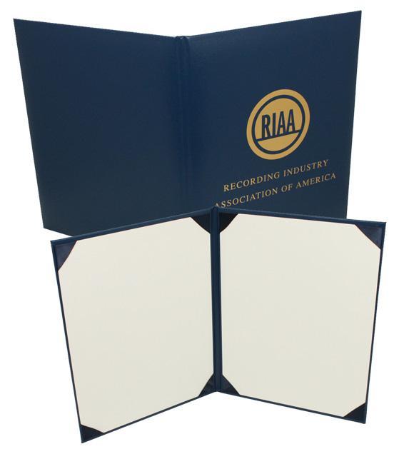 Khung giấy khen - băng khen bằng bìa cứng gấp đôi