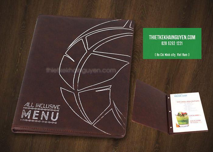 All Inclusive - Mẫu menu bìa da kích thước chuẩn
