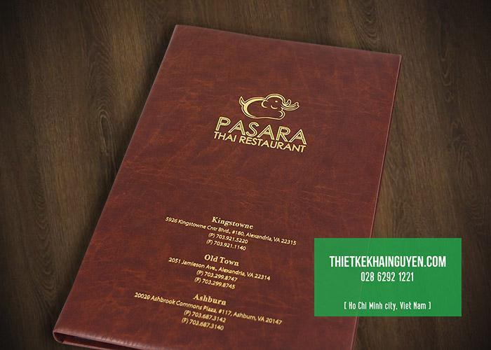 Thực đơn bìa da Pasara Thai Restaurant