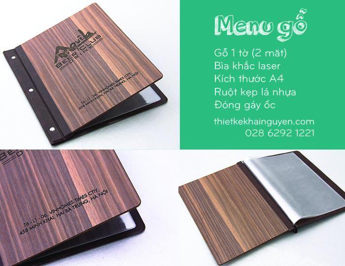 Bìa menu gỗ 2 mặt sang trọng & ấn tượng hơn