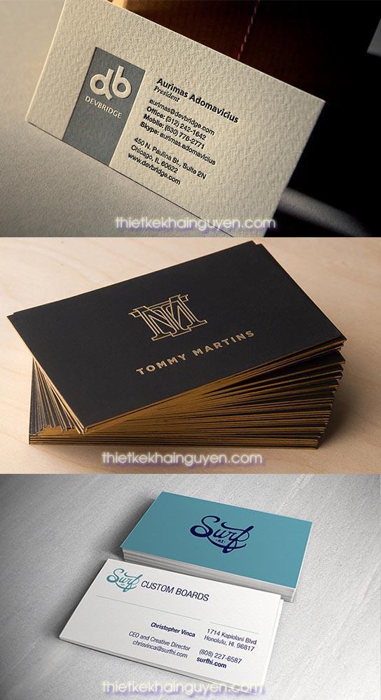 In card visit giám đốc - danh thiếp ép kim.