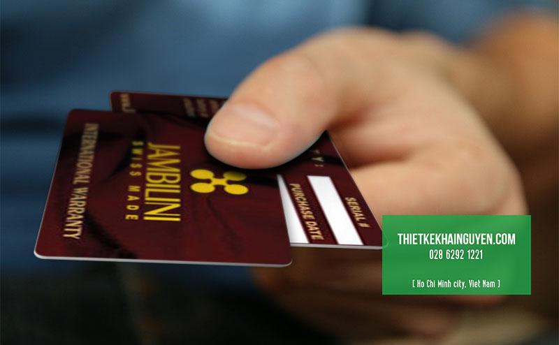 In thẻ bảo hành bằng nhựa tại TPHCM