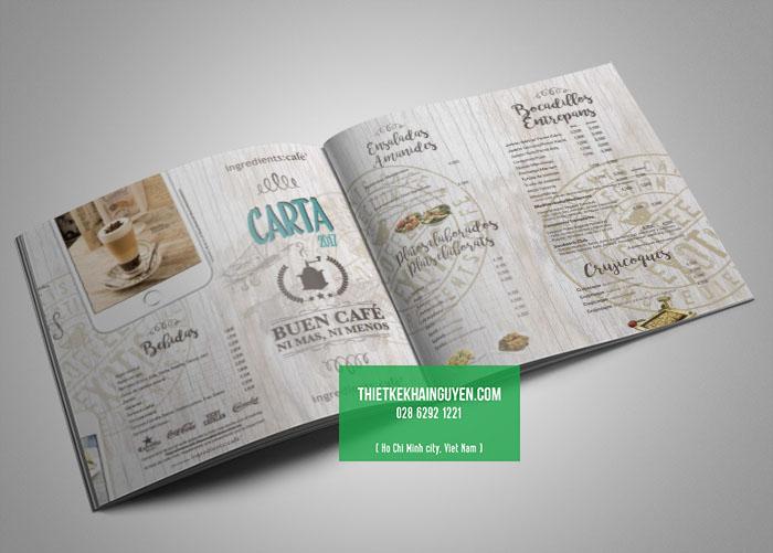 Thiết kế menu quán cafe cực đẹp