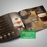 Thiết kế thực đơn cà phê với gam màu tối ấn tượng
