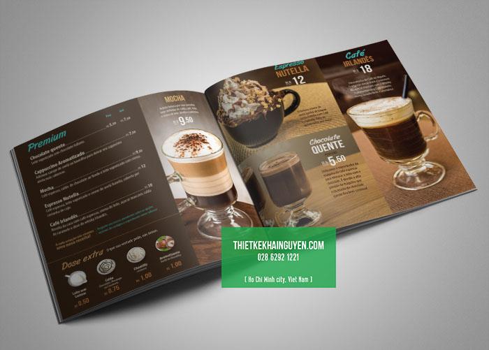 Thiết kế thực đơn cà phê với phong cách Châu Âu