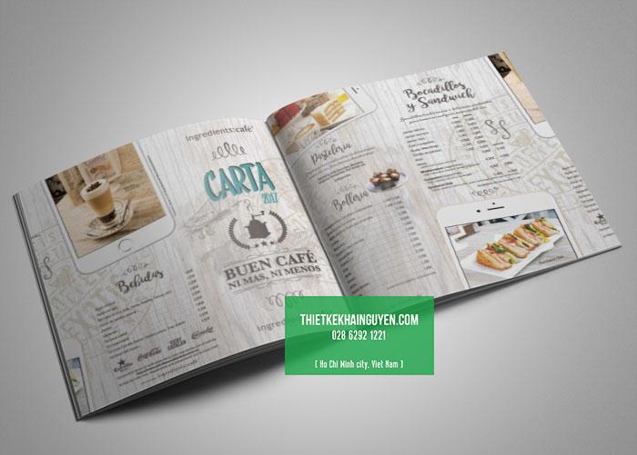 Mẫu thiết kế thực đơn sang trọng dành cho quán cafe - Carta Buen
