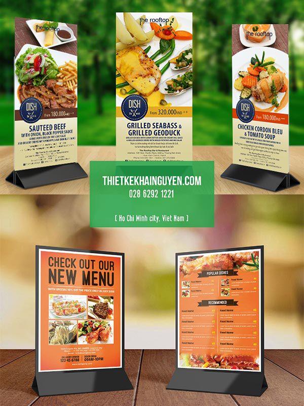 In menu để bàn bằng chân Mica