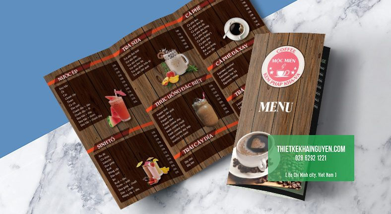 Thiết kế menu take away cho quán cafe