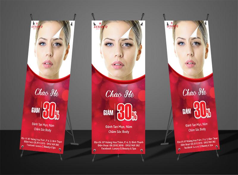 Thiết kế poster giảm giá chào hè Spa Luxyry Q