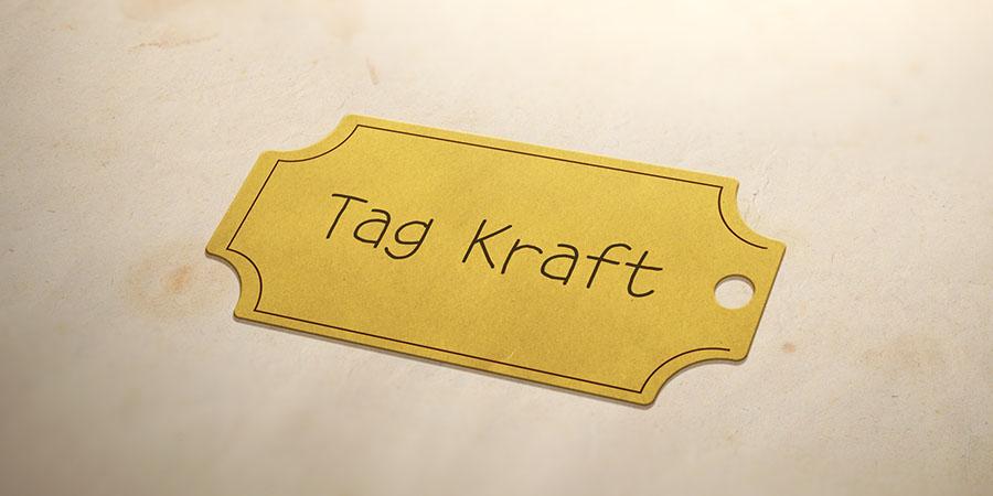 Thiết kế tags treo quần áo theo phong cách tối giản