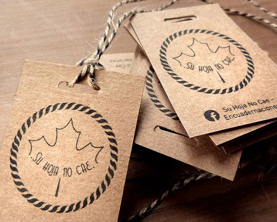Thiết kế in tag treo bằng giấy Kraft mỏng