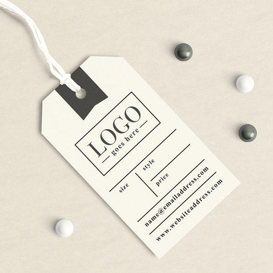 Thiết kế in tag quần áo ấn tượng theo trường phái đơn giản