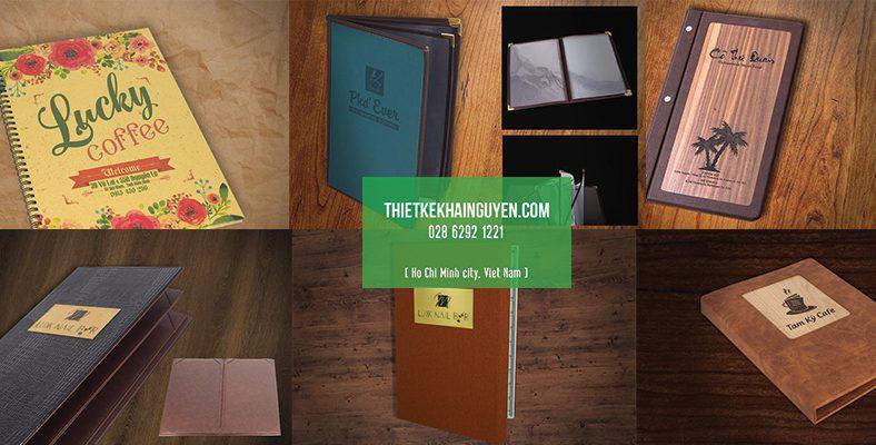 Bìa menu đẹp tại TPHCM