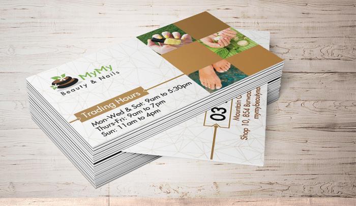 Mẫu thiết kế card visit cho MyMy Spa