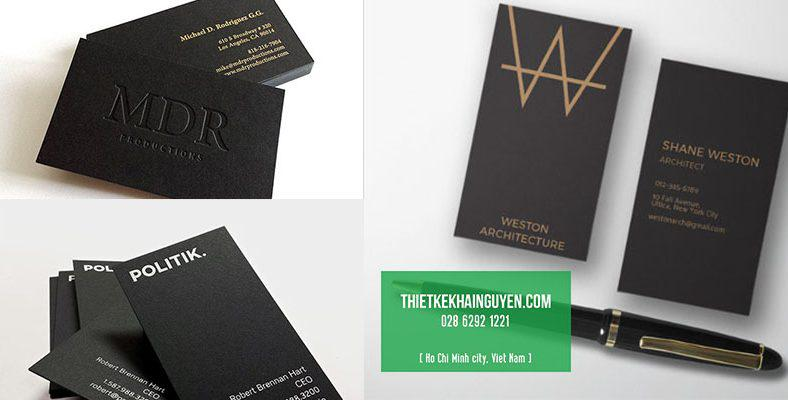 Thiết kế card visit chuẩn in ấn - card visit chuẩn ép kim
